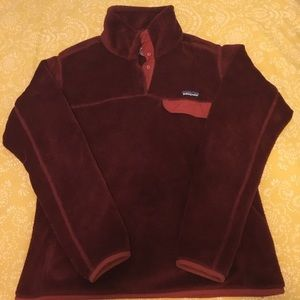 Women's Patagonia Re-Tool SnapT Pullover burgundy